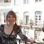 Lissabon mit Muschi auf Balkon